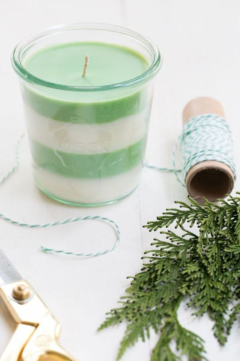 Pine Scented Candles DIY Christmas Gifts