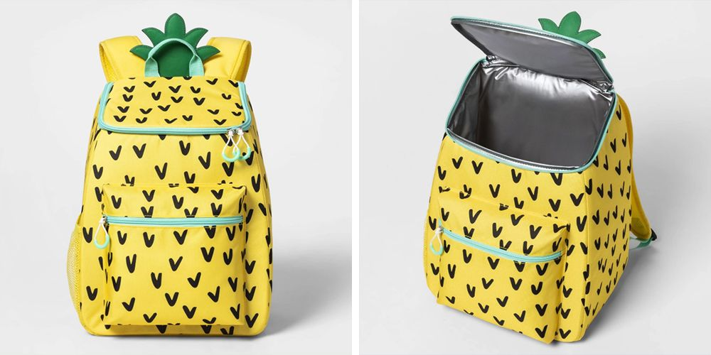 This Pineapple Backpack Is Also A Cooler That Holds 20 Cans