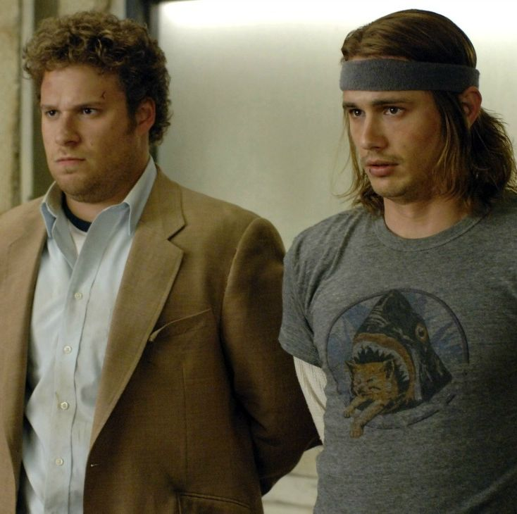 PINEAPPLE EXPRESS, from left: Seth Rogen, James Franco, 2008, © Columbia/courtesy Everett Collection