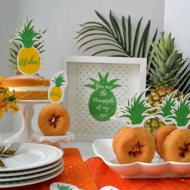 Pineapple donuts moana birthday party
