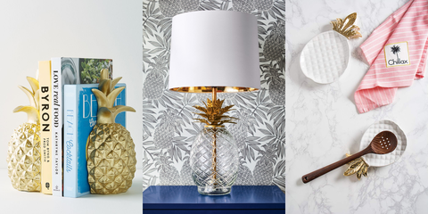Lampshade, Pineapple, Lighting accessory, Lamp, Lighting, Room, Light fixture, Material property, Sconce, Plant,