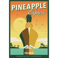 Marijuana strain poster art Pineapple Express