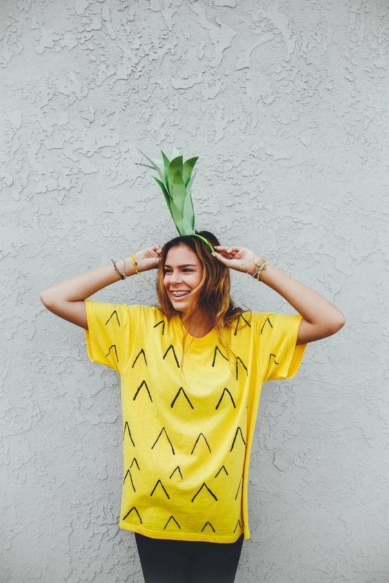diy pineapple costume for tweens
