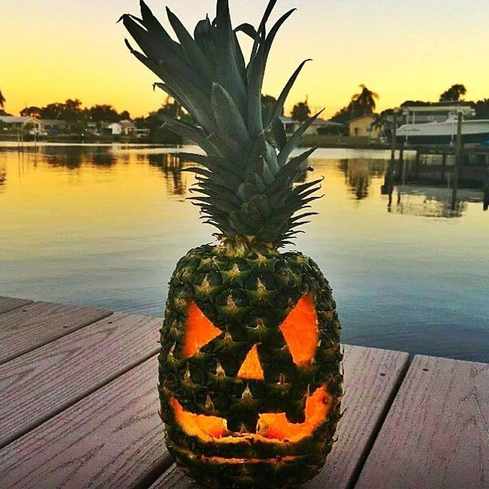 Pineapples Are the New Pumpkins for Carving a Spooky Jack-O'-Lantern This Halloween