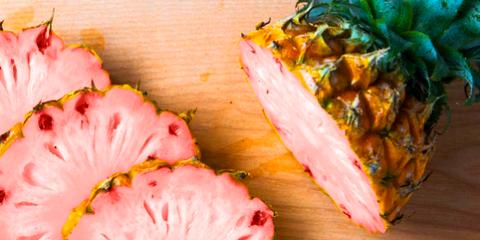 Food, Pink, Ingredient, Peach, Leaf vegetable, Recipe, Dish, Garnish, Produce, Japanese cuisine,