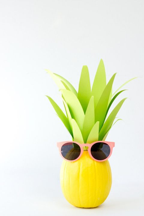 Pineapple Pumpkin Faces Ideas