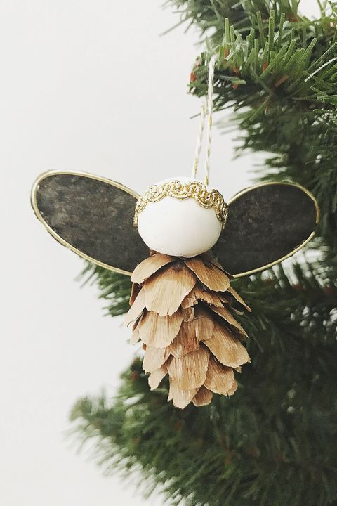 diy pinecone angel ornaments - 15 DIY Angel Ornaments - Easy Angel Christmas Ornament Ideas