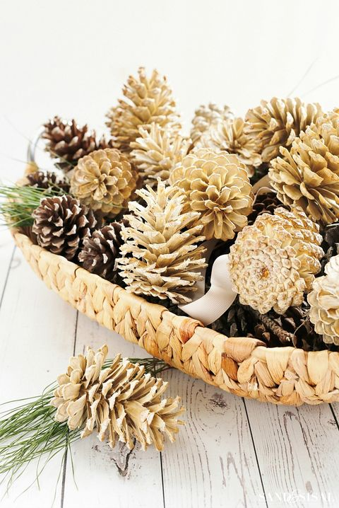 pinecone decoration bleached