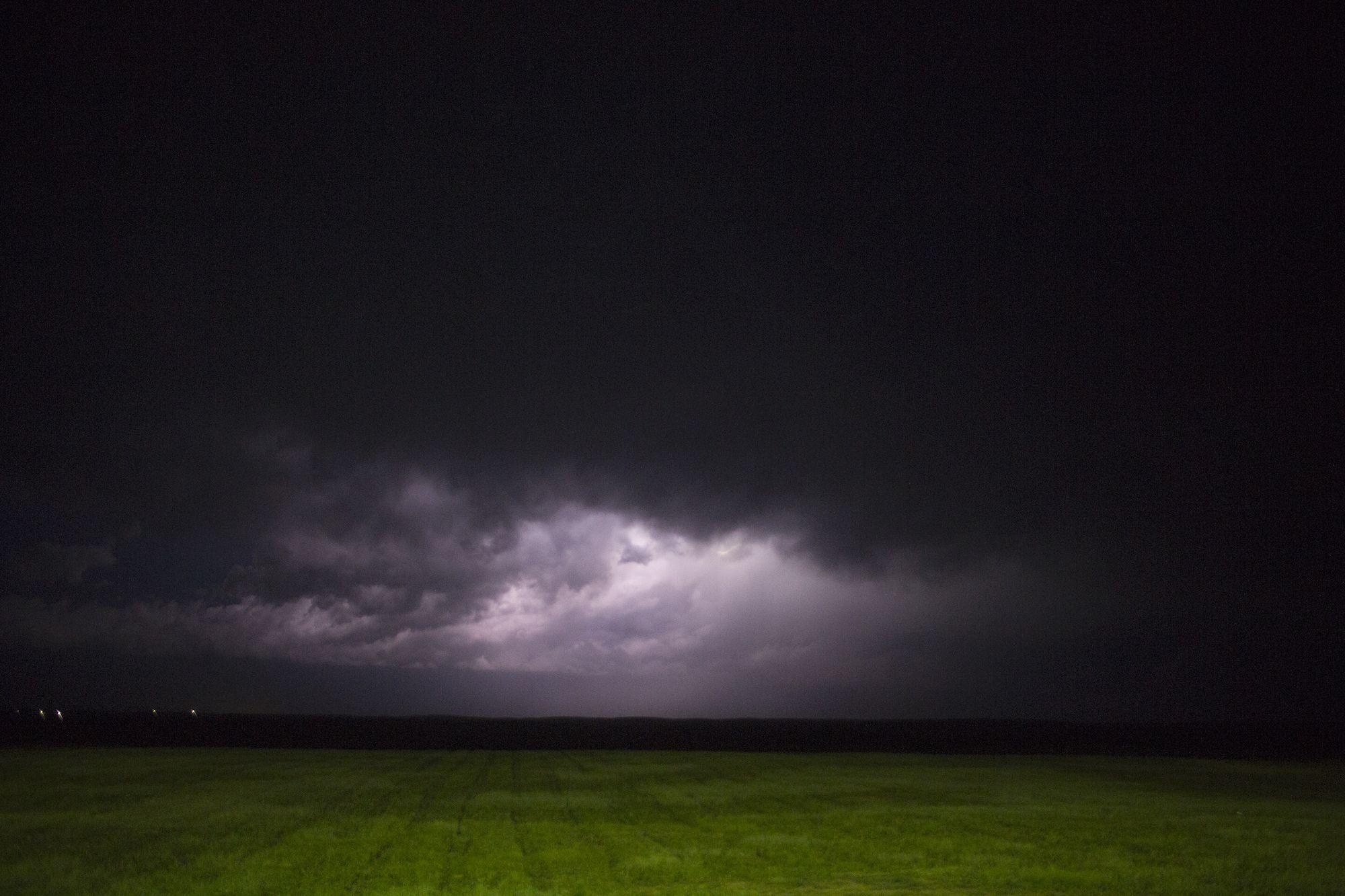 A storm gathers over Pine Ridge last June.