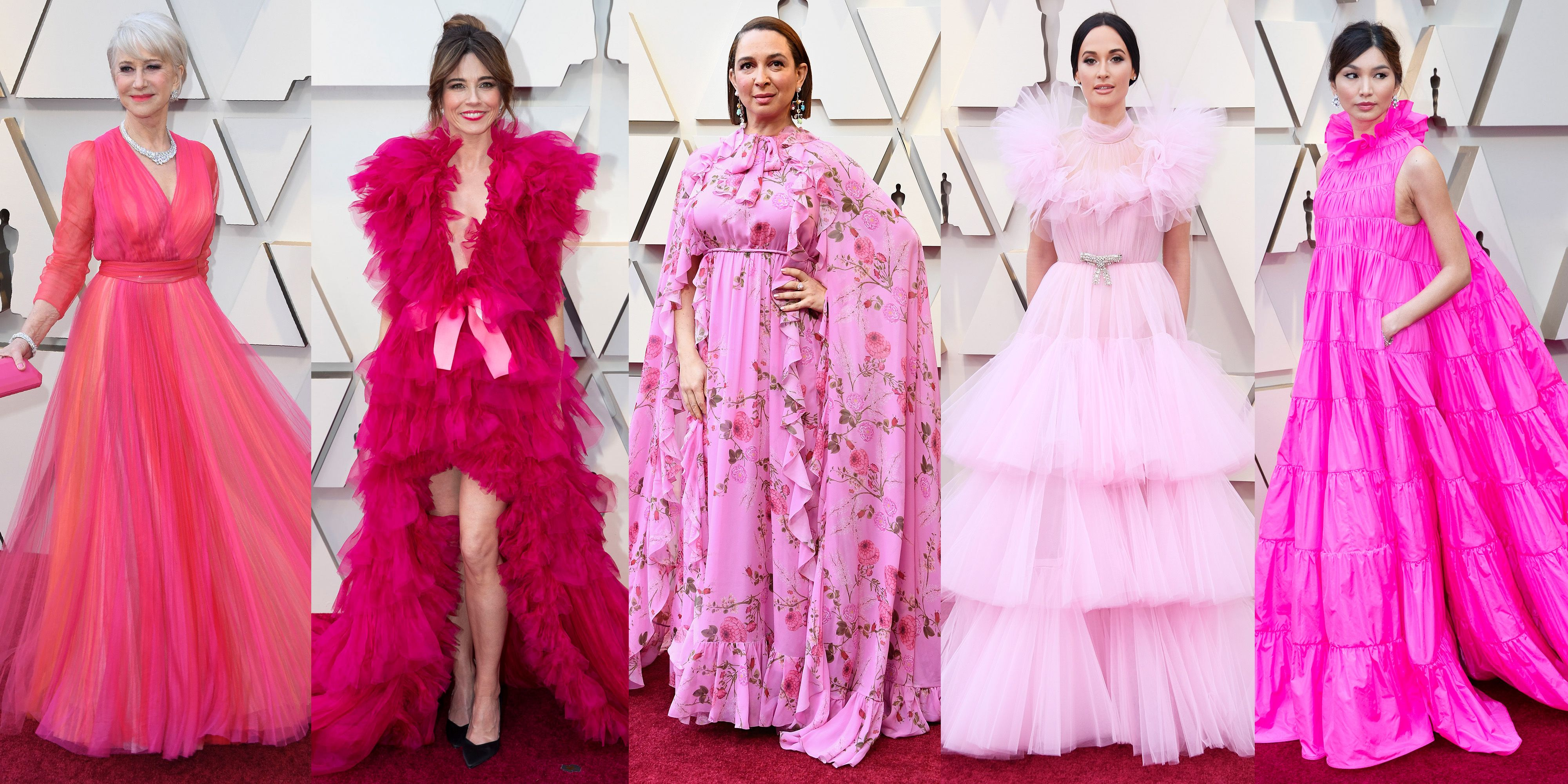 4c2660bf4 Oscars 2019's Biggest Red Carpet Trend Was Pink Dresses