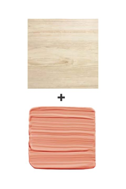 light wood and coral paint swatch
