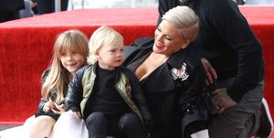 Pink won't post pictures of her family