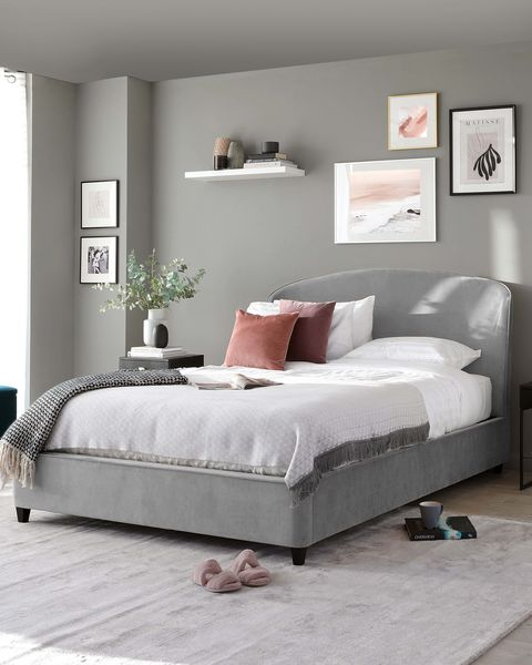 pink and grey bedroom from danetti