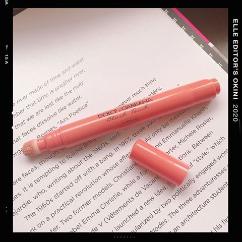 Text, Pink, Lip, Material property, Font, Lip gloss, Peach, Cosmetics, Writing implement, Office supplies,