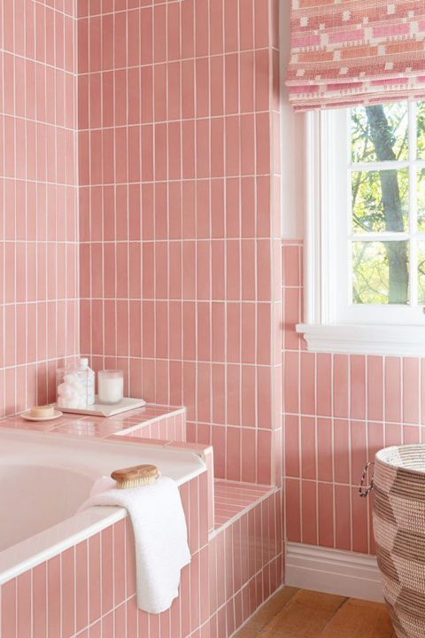 Bathroom Tiles Pink