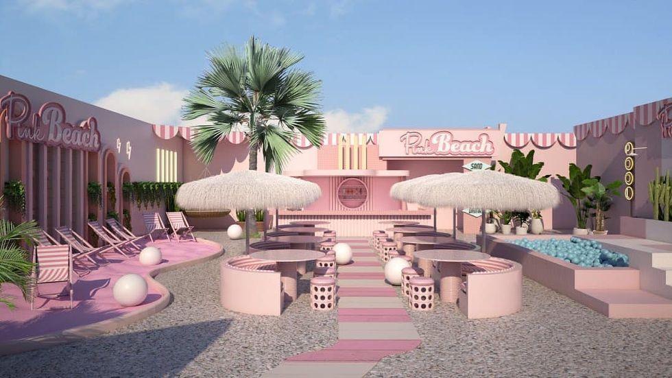 DÉ hotspot voor deze zomer; PINK Beach in Amsterdam