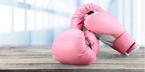 Pink boxing glove.