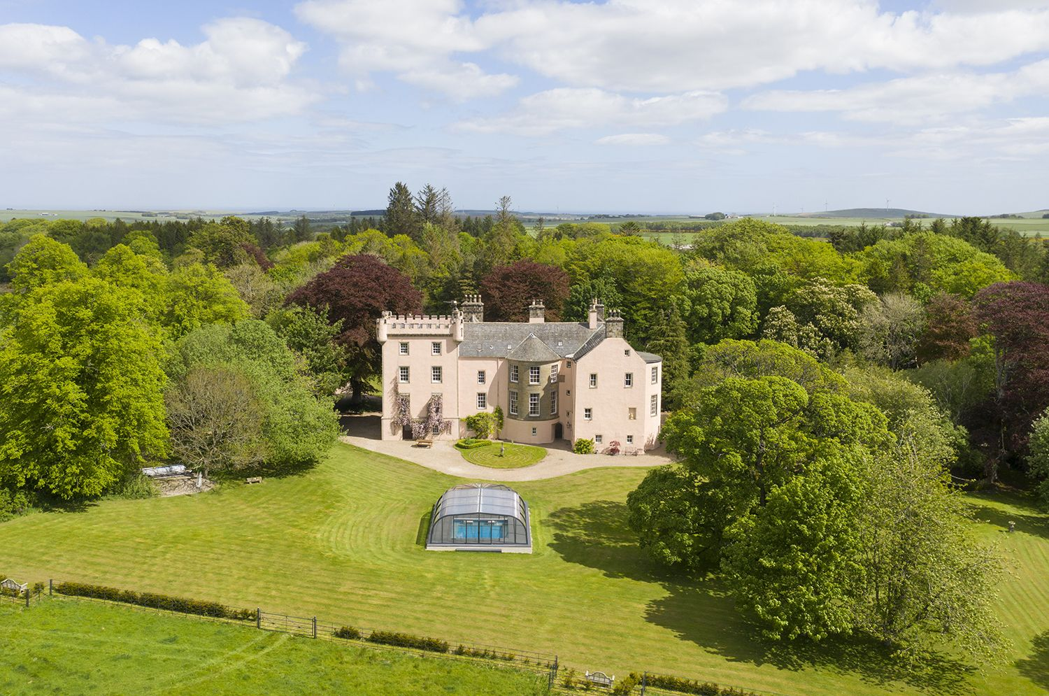This pink 16th century fairy tale castle is for sale in Aberdeenshire
