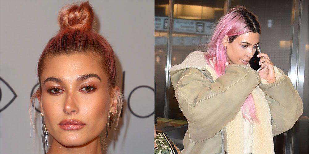 pink celebrity hair