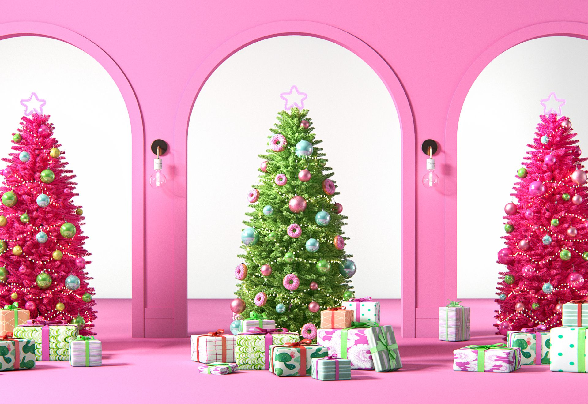 Search Volume For Pink Christmas Trees Is Up 125 This Year