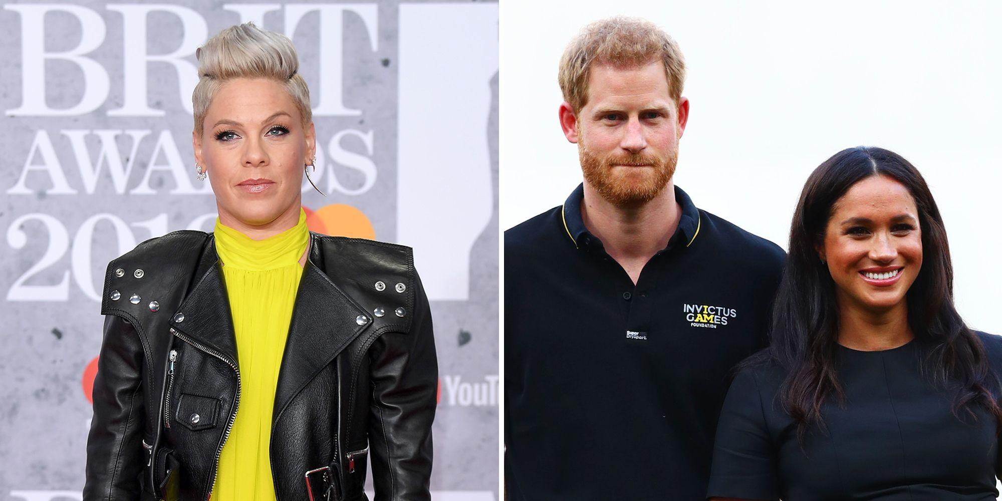 Pink Defends Meghan Markle and Prince Harry Against Internet Trolls