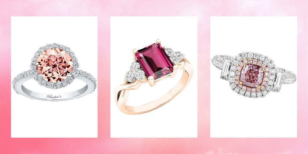 Pink Diamond Engagement Ring 19 Best Pink Engagement Rings