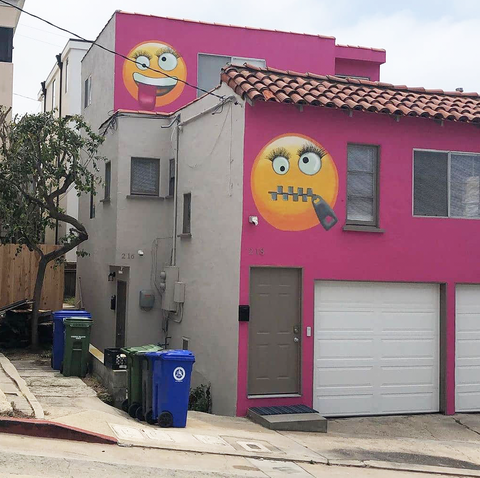 The Pink Emoji House In Manhattan Beach