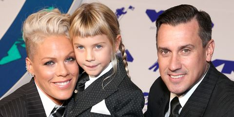Pink With Her Husband and Daughter