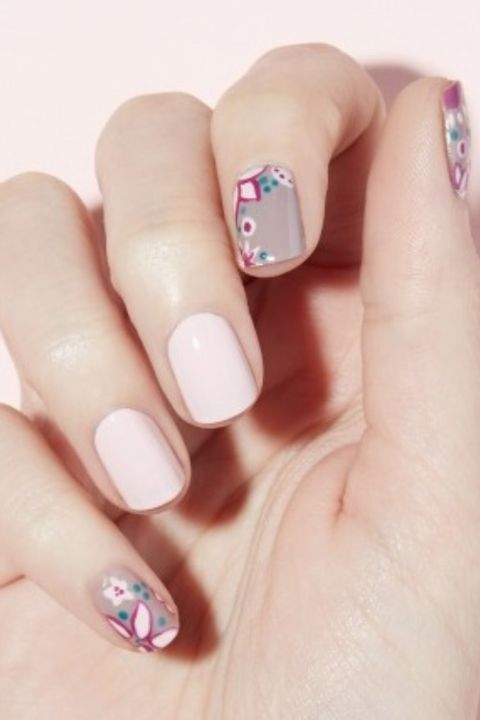 easter nail designs - flower power