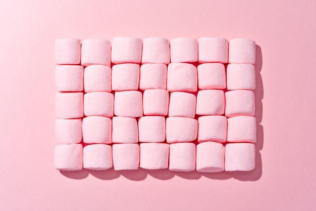 pink fluffy marshmallows