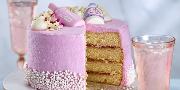 Wondrous Asda Pink Gin Cake Asda Releases Pink Gin Flavoured Cake Funny Birthday Cards Online Hendilapandamsfinfo