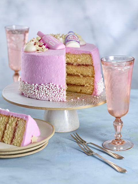 Asda's Pink Gin Cake