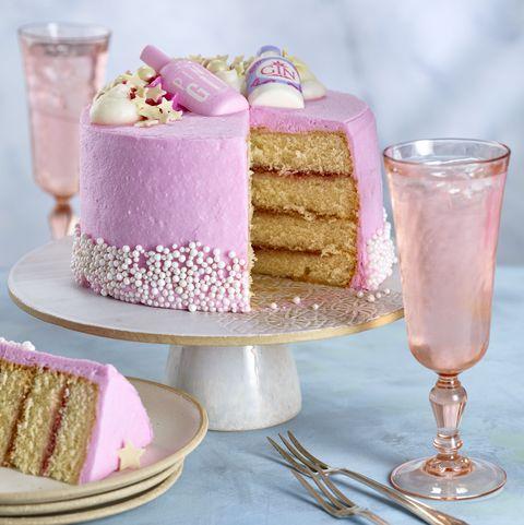 Asda Pink Gin cake