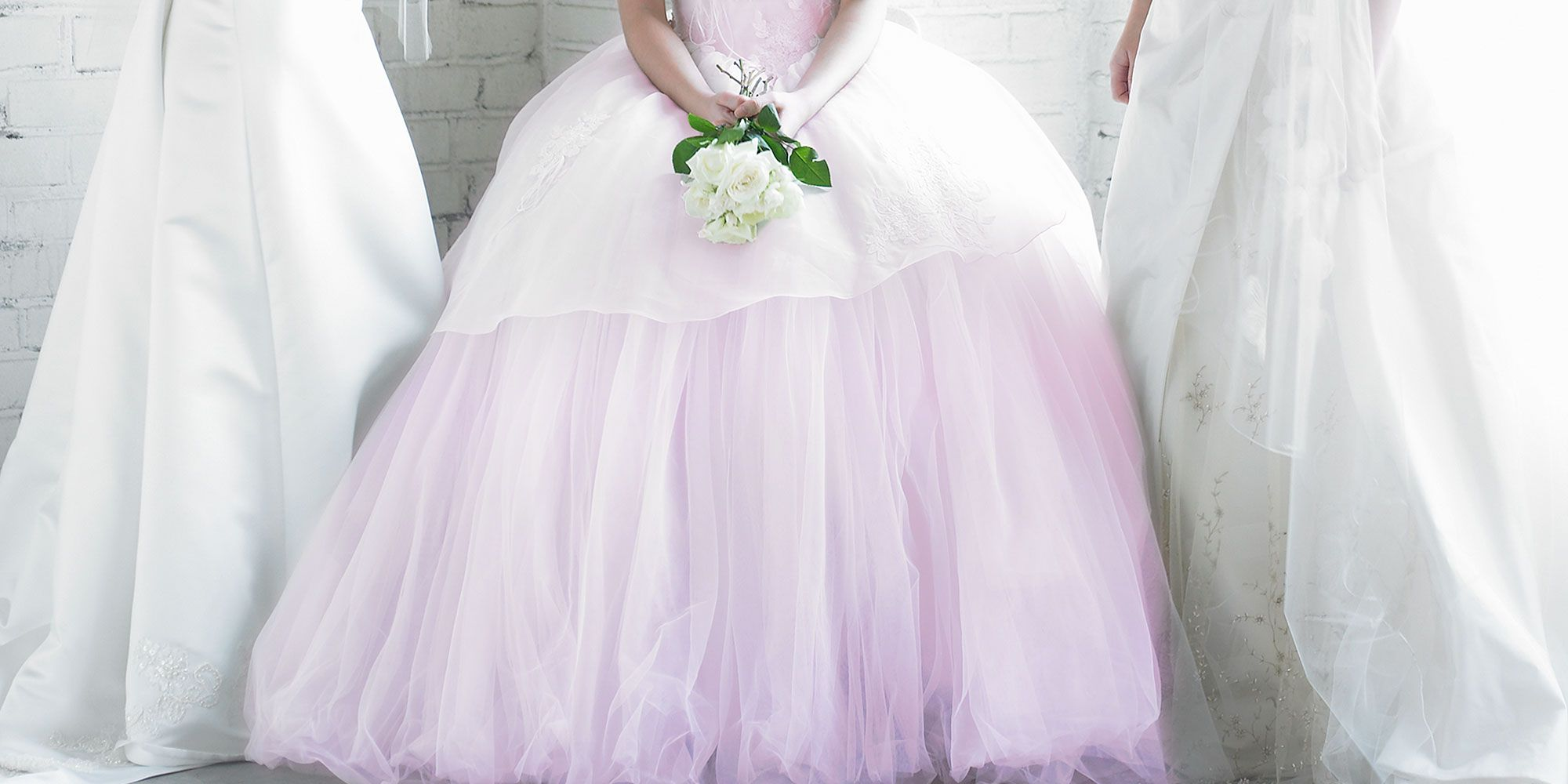 Image result for Coolest Bride Ever Wears Millennial Pink to Her Wedding