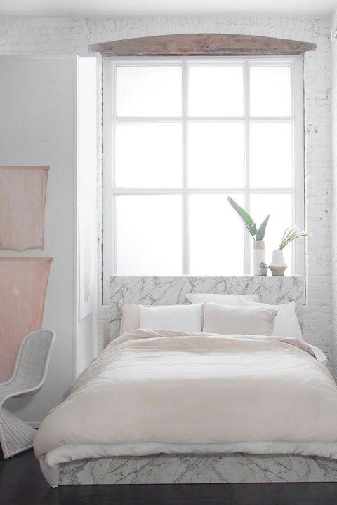 Bedroom, Bed, Furniture, White, Room, Bed frame, Bed sheet, Property, Mattress, Interior design,