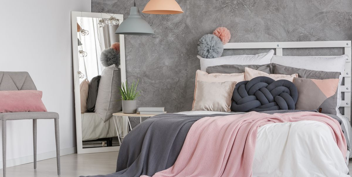 Pink And Grey Bedroom Ideas From Decorations To Furniture