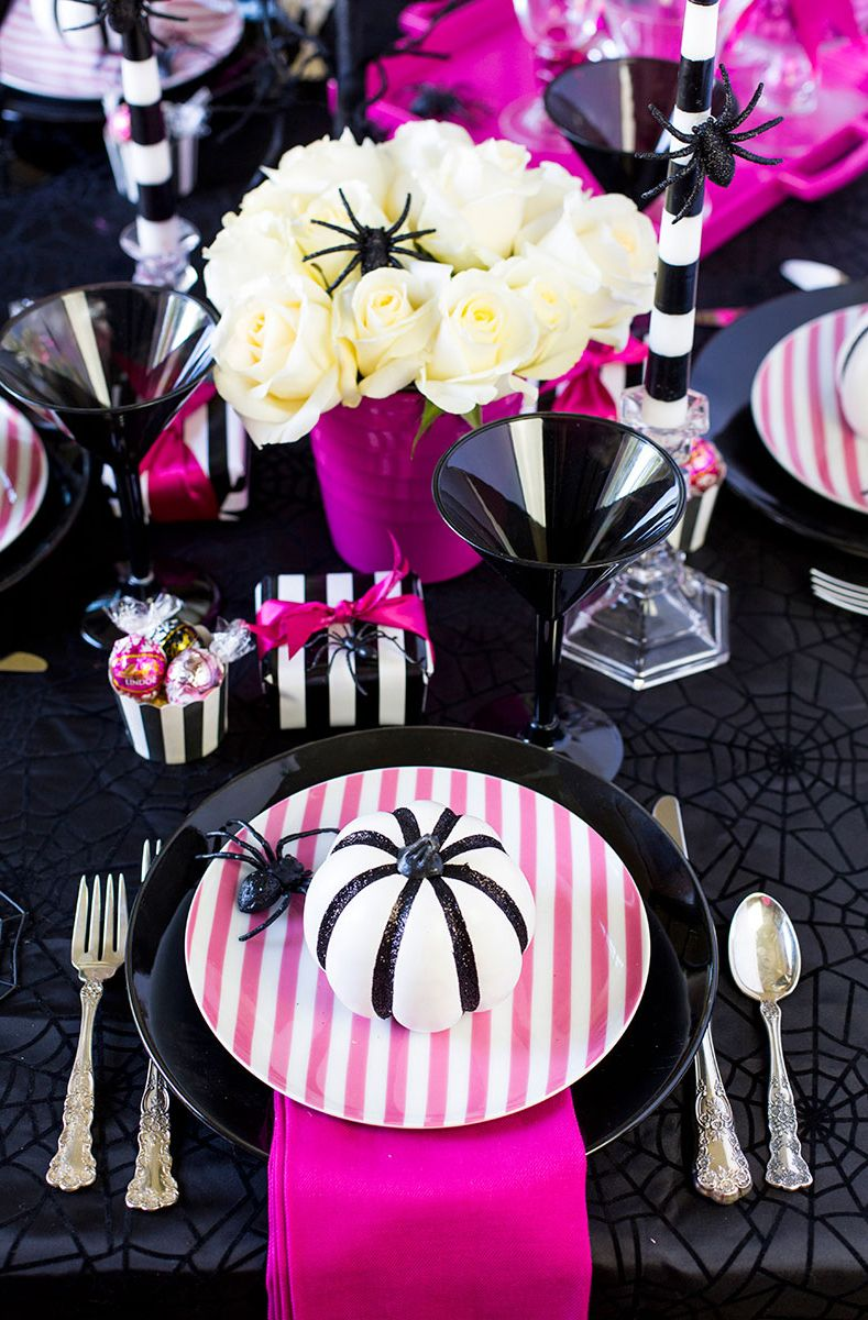 halloween party themes - pink halloween party