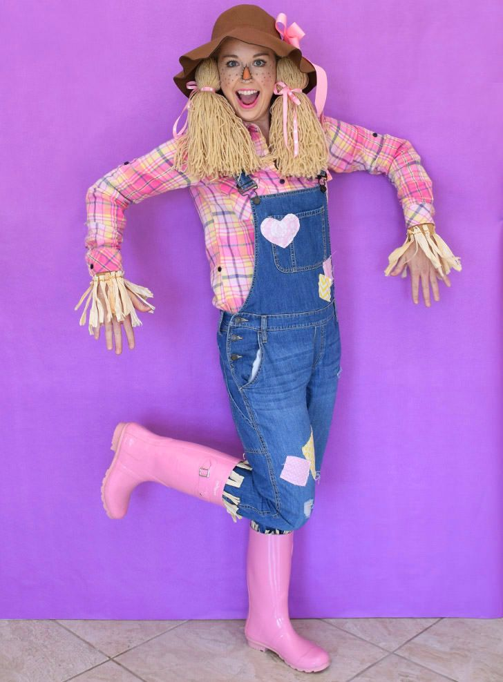 WOW 5 pc Scarecrow Costume Adult Woman Wizard of Oz