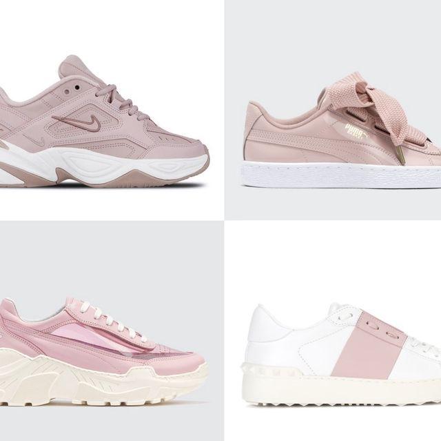 Footwear, Shoe, Sneakers, White, Product, Pink, Walking shoe, Outdoor shoe, Athletic shoe, Beige,