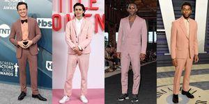 ピンク色のスーツを着こなすセレブ達