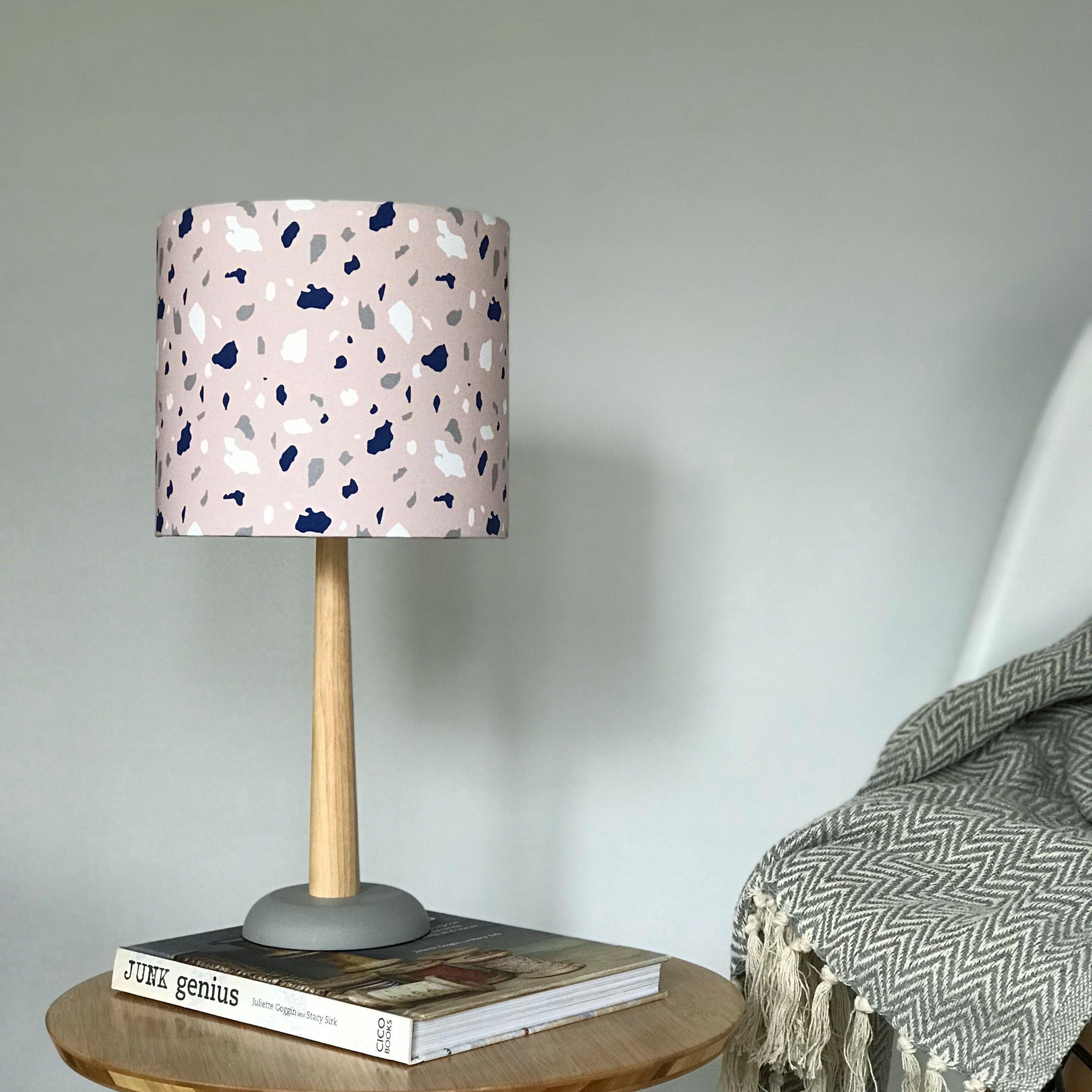 Pink Terrazzo Style Lampshade Elmtreetextiles, etsy.com, £35