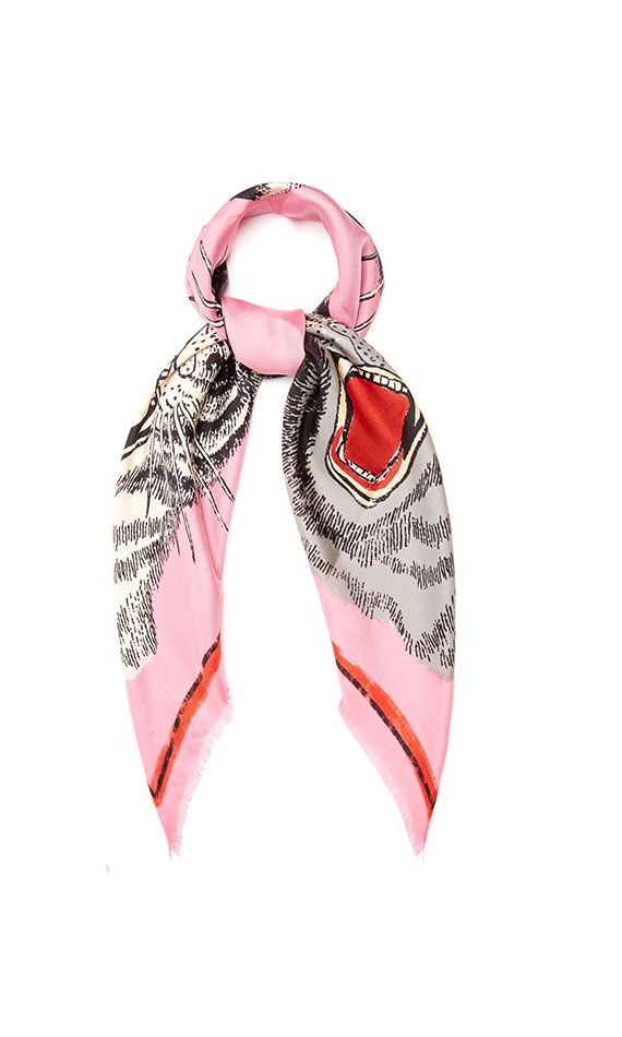 Gucci Pink tiger face neckerchief