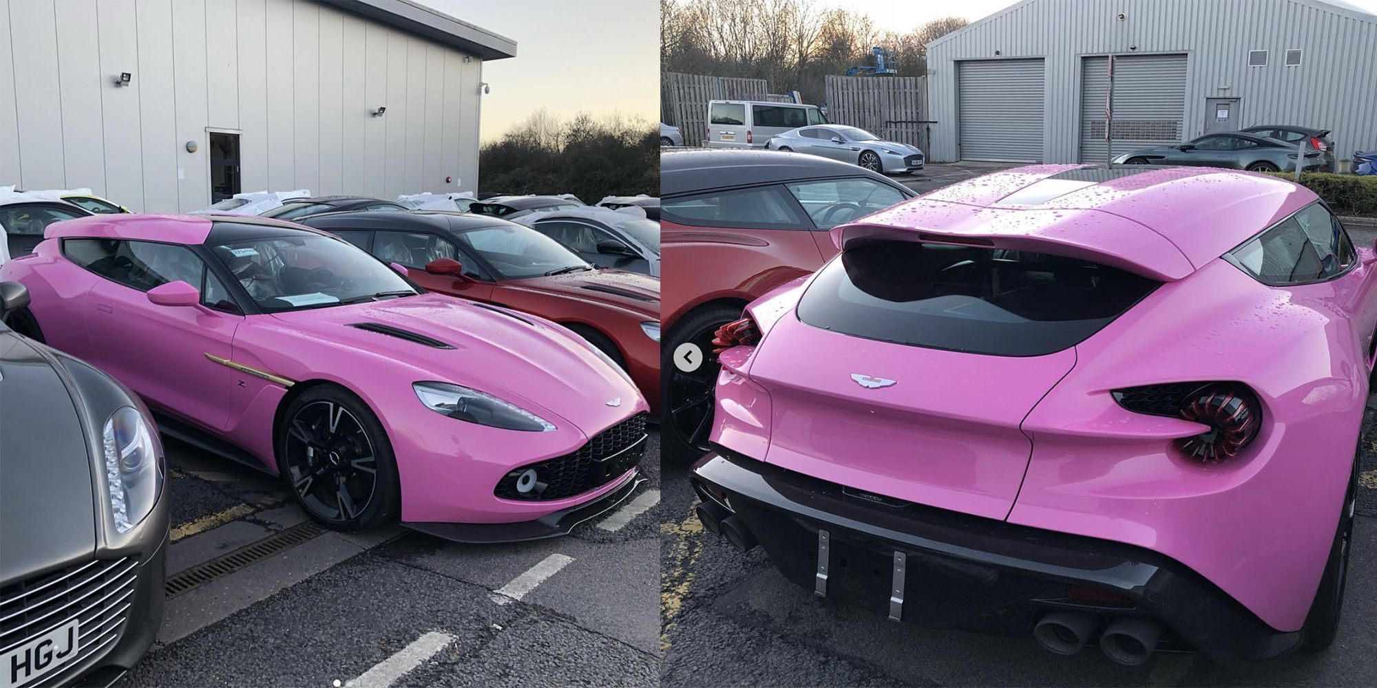 Someone Ordered Their Aston Martin Vanquish Zagato Shooting Brake In Pink