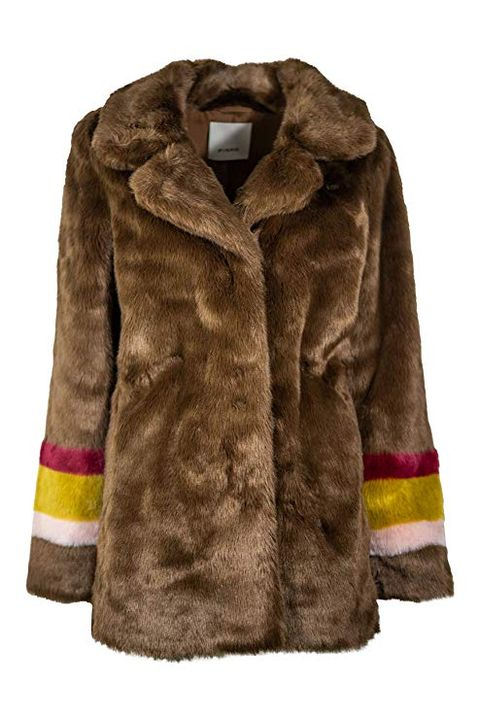 Clothing, Fur clothing, Fur, Outerwear, Jacket, Sleeve, Coat, Brown, Textile, Overcoat,