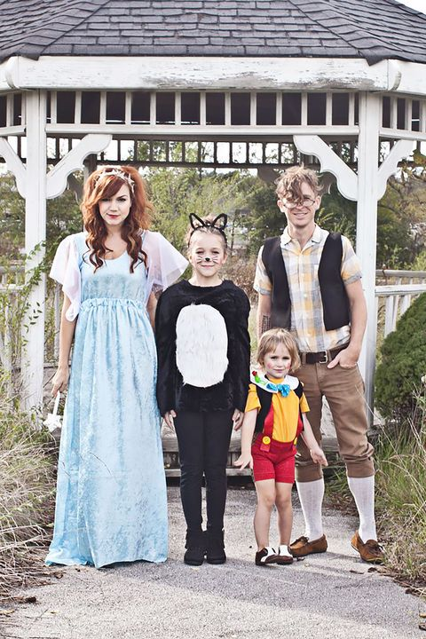 pinocchio characters family halloween costumes