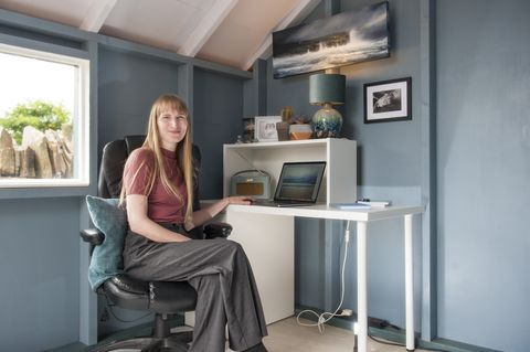 free for editorial use picturedclaire hughes of caithness, scotland, has taken the top accolade for her sensational shed office in her gardenthe winner of the wickes home office awards has been crowned, alongside four shortlisted winners from across the uk launched in mid april, the awards sought the best in home office set  ups, after more than a year of video calls led the nation to upping their creativity when designing working from home spacesjudged by tv celebrities and property experts phil spencer  ben hillman, wickes awards were created to celebrate and reward the creators of the best wfh spaces across the ukafter weeks of social media entries, claire hughes of caithness, scotland, has taken the top accolade for her sensational shed office in her garden