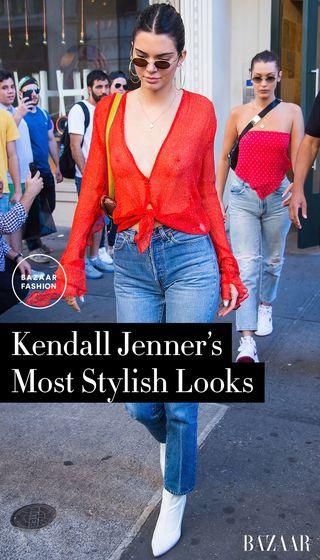 7f715e6e154180 Kendall Jenner and Emily Ratajkowski Wear Matching Black Turtlenecks at  76ers Game