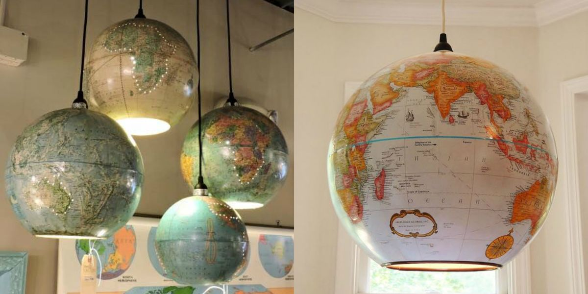 How To make A Globe Pendant Lamp Diy Globe Pendant Light
