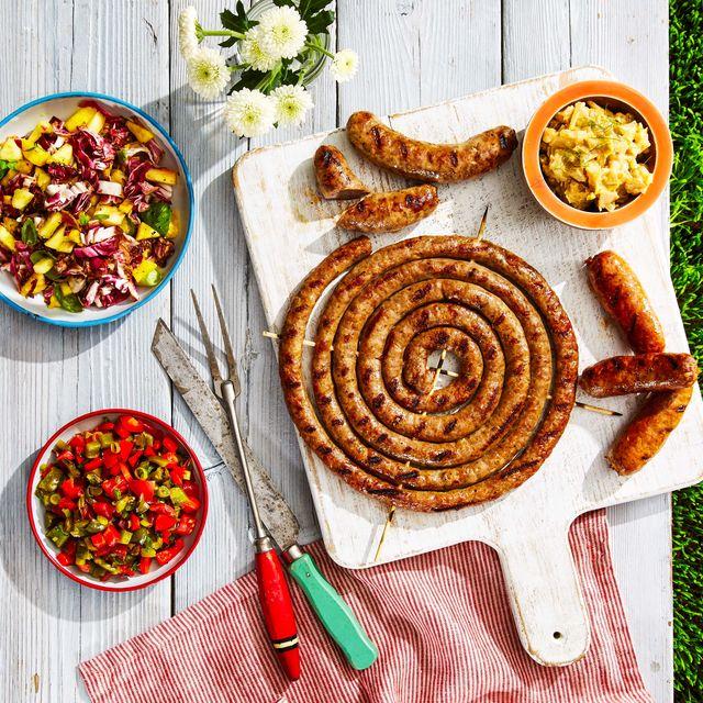 pinwheel sausage and mixed grill
