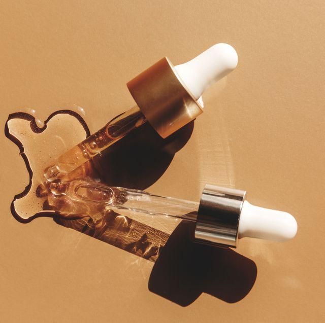 pipetten met olie en serum